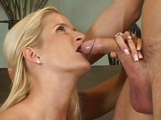 golden-haired milfs ball licking oral-stimulation