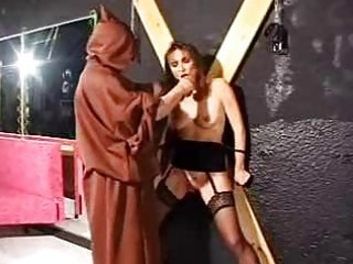 bondage aged villein in torture