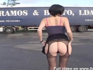 sophie screwed in hose by truck drivers