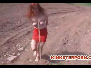 Milf bdsm slave catherine de sade is outdoor