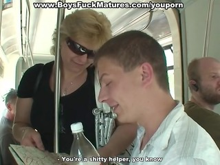 mature woman fucked hard by wild young guys