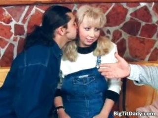 filthy milf blonde with huge mangos part1