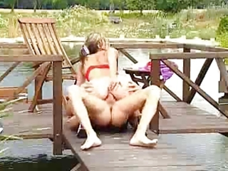 Milf outdoor anal