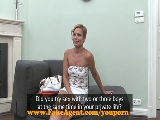 FakeAgent HD Hot mature amateur takes mouthful of