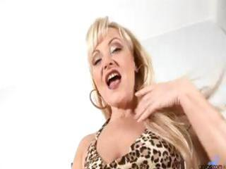 older aged blond anal bead play