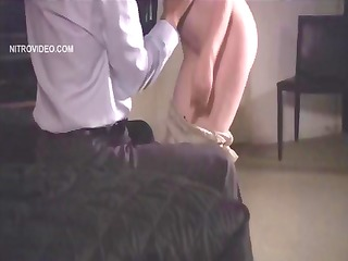 Skinny nympho chick, Justine Joli, gets humped in