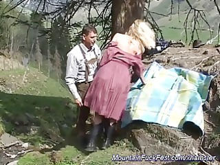 hard anal fuck in the mountain