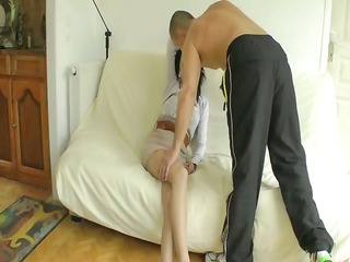 Tania analfucked in stockings