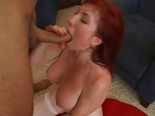 cute breasty redhead d like to fuck getting hard