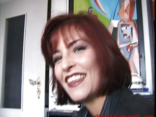 Shy redhead milf shows tits after long discussion