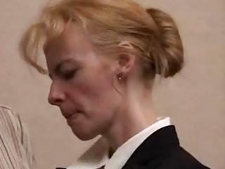 aged golden-haired slut punished hard