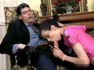 sexually excited young latin chick chick eats his