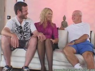 hubby enjoyed watching his golden-haired wife on