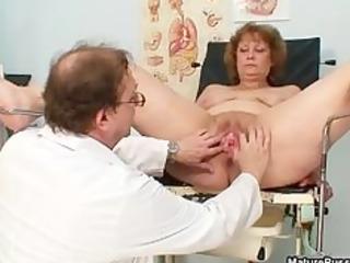 slutty doctor abusing a dirty grandma part1