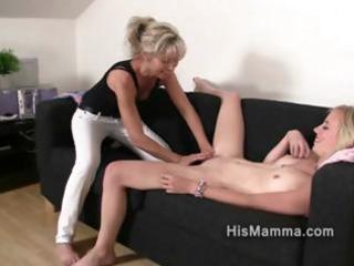 Girlfriend gets seduced by mature lesbian who