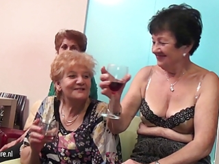 old and young lesbian babes perform in a room