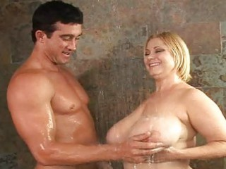 mature fucking breasty doxies in the shower