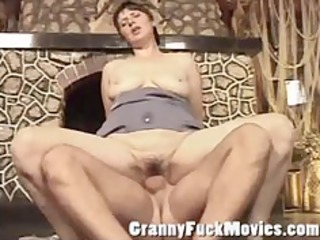 dirty older bitch acquires a hard wang in her old
