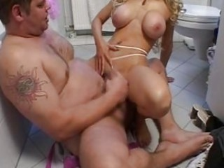 sexy blond mother i gives her chap a show in the