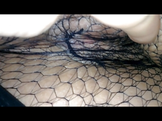 wifes bawdy cleft explored throughout nylons