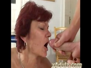 slim old redhead granny fuck youthful man in the
