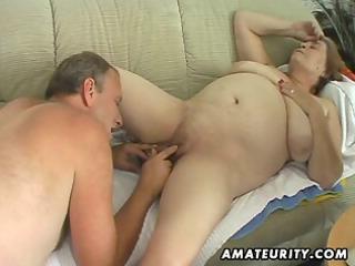 fat aged amateur wife sucks and fucks