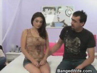 guy watches his wife engulf some other mans dick