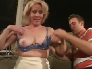 older blond eats younger pecker and then rides on