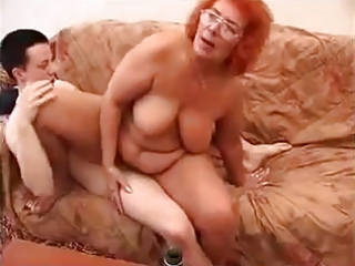 old redhead granny like fck with juvenile guy.by