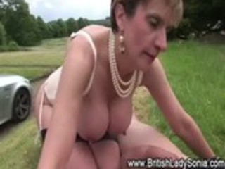 lascivious british aged whore receives a