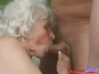 aged granny acquire drilled by juvenile man
