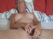 granny roxanne from canada fingering at home