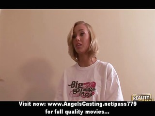 amateur awesome blonde doxy doing blowjob to the