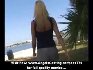 blond milf enchanting talking with lesbian