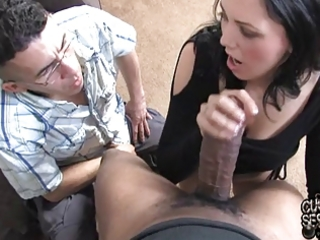white wife takes biggest darksome cock in front