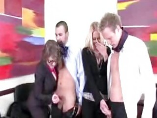 excited office milfs want to blow their co