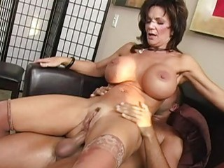 wicked brunette breasty mother i getting her