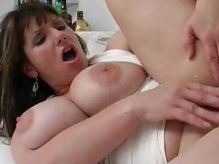 Big breasted slut wife rides massive piece of meat