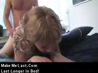 tattooed golden-haired hussy gets her ass