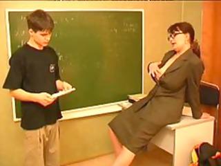 russian mature teacher and juvenile chap russian