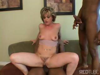 milf sandwich with dark knobs