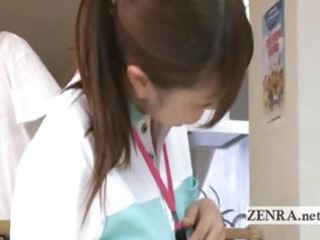 mature patient licks japanese nurses pussy and