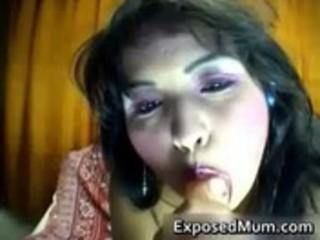 latina milf disrobes in sexy web camera