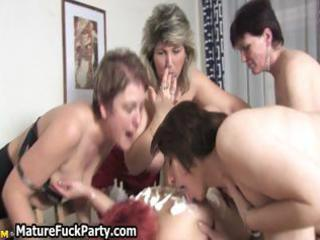 group of horny lesbian aged chicks love part3