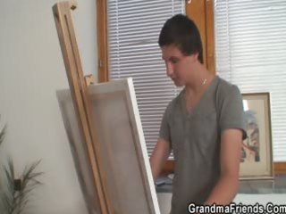 two juvenile painters gangbang granny