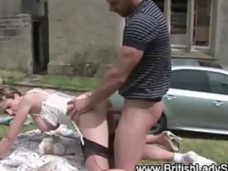 lascivious british mature doxy receives a spunk