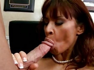 breasty randy mother i dark brown in nylons does