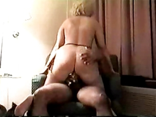 Mature blonde goes anal in a motel