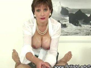 Busty mature lady sonia gives handjob