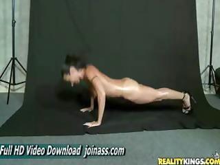 wenona bodyoil milf lingerie muscle